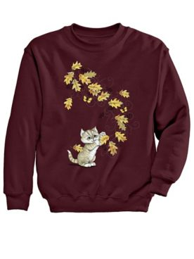Signature Graphic Sweatshirt-Cat