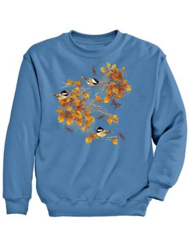 Signature Graphic Sweatshirt-Chickadee