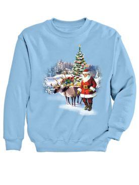Graphic Sweatshirt-Santa