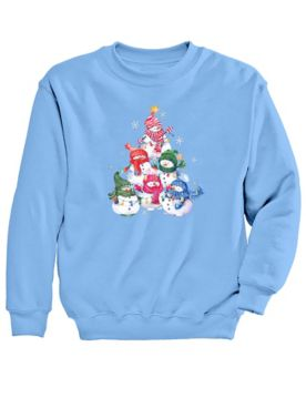Graphic Sweatshirt-Snowmen