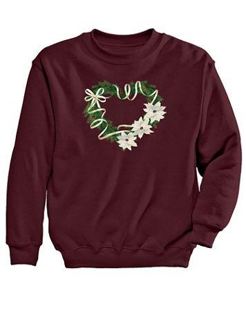 Graphic Sweatshirt-Wreath - Image 2 of 2