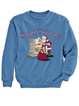 Graphic Sweatshirt-Fireplace
