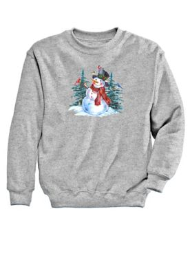 Graphic Sweatshirt-Snowman