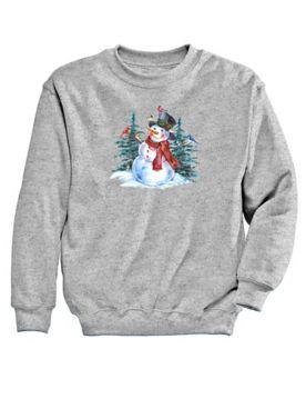 Graphic Sweatshirt-Snowman
