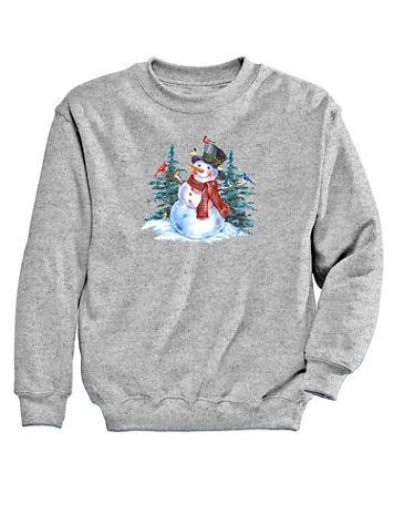 Graphic Sweatshirt-Snowman - Image 2 of 2