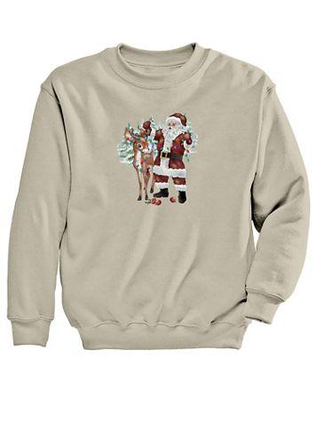Santa Graphic Sweatshirt - Image 2 of 2