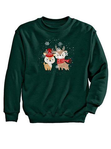 Reindeer Graphic Sweatshirt - Image 2 of 2