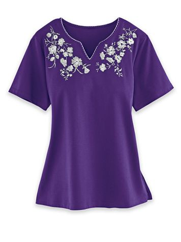 Alfred Dunner Embroidered Knit Tops - Image 1 of 1