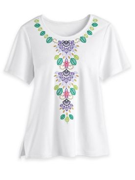 Alfred Dunner Floral Knit Top