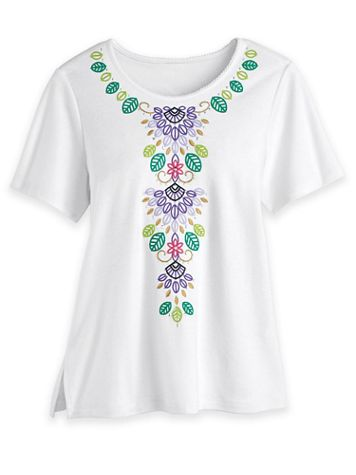 Alfred Dunner Floral Knit Top - Image 2 of 2