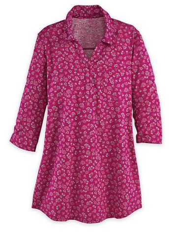 Three-Quarter Sleeve Knit Pullover Tunic - Image 1 of 1