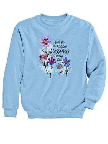 Graphic Sweatshirt-Blessings - Image 2 of 2