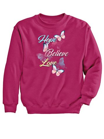 Graphic Sweatshirt-Hope - Image 2 of 2