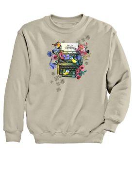 Graphic Sweatshirt-Typewriter