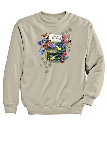 Graphic Sweatshirt-Typewriter - Image 2 of 2