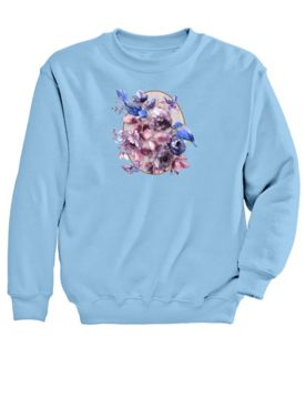 Graphic Sweatshirt-Bluebird