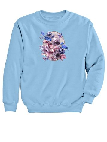 Graphic Sweatshirt-Bluebird - Image 2 of 2