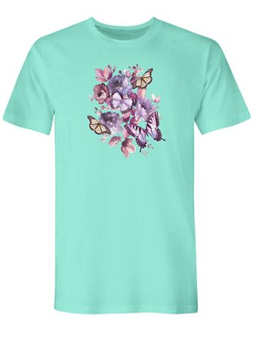 Graphic Tee-Butterfly - Image 1 of 1
