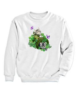 Graphic Sweatshirt-Kitties