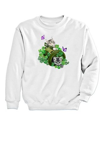 Graphic Sweatshirt-Kitties - Image 2 of 2