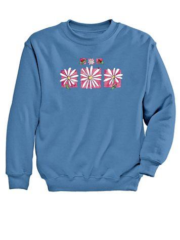 Graphic Sweatshirt-Daisies - Image 2 of 2