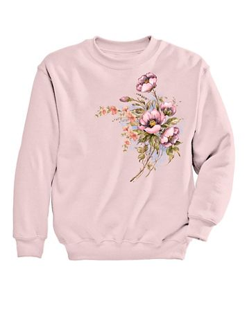 Graphic Sweatshirt-Floral - Image 1 of 1