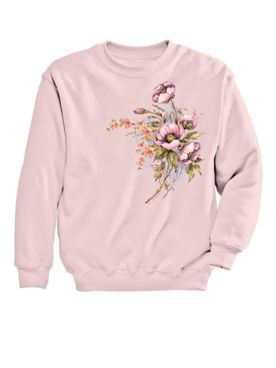 Graphic Sweatshirt-Floral