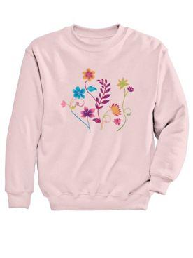 Graphic Sweatshirt-Floral
