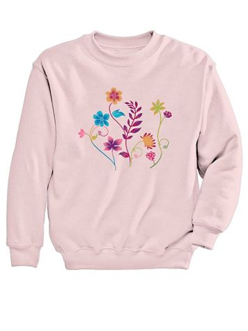 Graphic Sweatshirt-Floral - Image 2 of 2