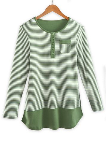 Striped Colorblock Tunic - Image 2 of 2