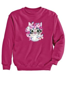 Graphic Sweatshirt-Cat