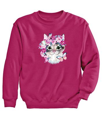 Graphic Sweatshirt-Cat - Image 2 of 2