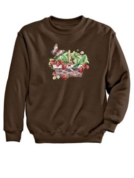 Graphic Sweatshirt-Strawberry
