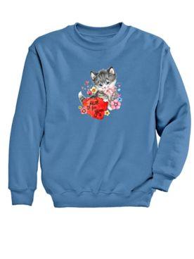 Graphic Sweatshirt-Kitty