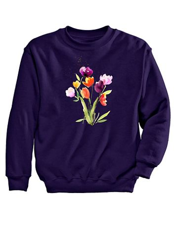 Graphic Sweatshirt – Tulips - Image 2 of 2