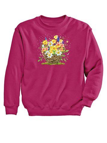 Graphic Sweatshirt – Daffodils - Image 2 of 2