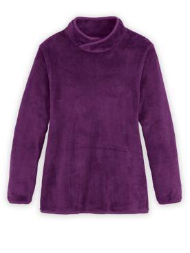 Long-Sleeve Cozy Fleece Top