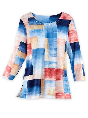 Alfred Dunner® Patchwork Knit Top - Image 1 of 1