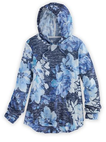 Alfred Dunner Floral Hoodie - Image 2 of 2