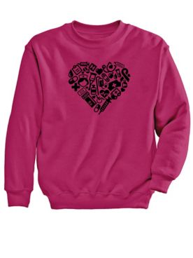 Heart Graphic Sweatshirt