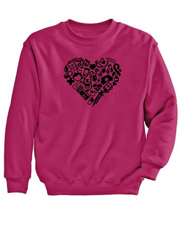 Heart Graphic Sweatshirt - Image 2 of 2