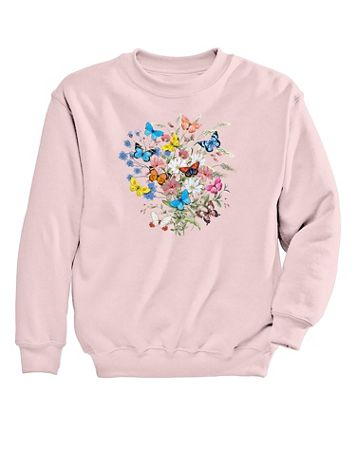 Butterfly Graphic Sweatshirt - Image 1 of 1