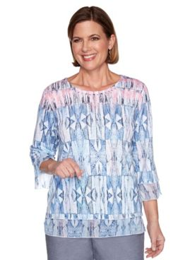 Alfred Dunner Stained Glass Knit Top