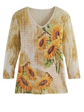 Sunflower Art Tee