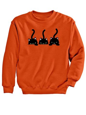 Cats Graphic Sweatshirt - Image 2 of 2