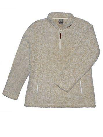 Plush Fluffy Fleece Quarter-Zip Pullover - Image 1 of 5