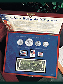 Star Spangled Banner Coin and Stamp Collection