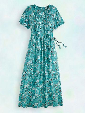 Pintuck Challis Dress - Image 2 of 6