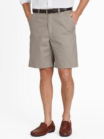 Adjust-A-Band® Plain-Front Wrinkle-Resistant Shorts - Image 1 of 8