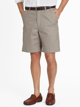 Adjust-A-Band® Plain-Front Wrinkle-Resistant Shorts